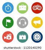 casino icons set   vector... | Shutterstock .eps vector #1120140290