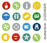 vector travel icons  vacation... | Shutterstock .eps vector #1120140329