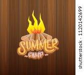 vector summer kids camp cartoon ... | Shutterstock .eps vector #1120142699