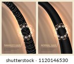 closeup damaged harsh and... | Shutterstock .eps vector #1120146530