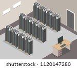 isometric data center... | Shutterstock .eps vector #1120147280