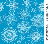 snowflakes seamless pattern.... | Shutterstock .eps vector #1120147376