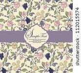 floral invitation card | Shutterstock .eps vector #112015574