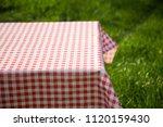 picnic table in the garden  ... | Shutterstock . vector #1120159430