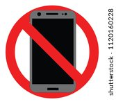 no phone sign  vector | Shutterstock .eps vector #1120160228