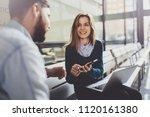 teamwork concept.young creative ... | Shutterstock . vector #1120161380