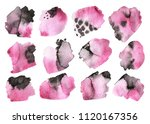 grunge ink pen stroke set | Shutterstock . vector #1120167356
