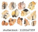 grunge ink pen stroke set | Shutterstock . vector #1120167359