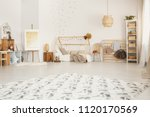 big fluffy carpet placed on the ... | Shutterstock . vector #1120170569