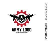 sniper team logo skull logo... | Shutterstock .eps vector #1120171610
