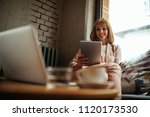 low angle shot of a young...   Shutterstock . vector #1120173530