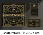 wedding invitation card vector... | Shutterstock .eps vector #1120175126