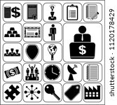 set of 22 business related... | Shutterstock .eps vector #1120178429