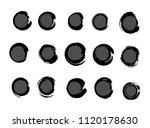 vector grunge circle collection | Shutterstock .eps vector #1120178630