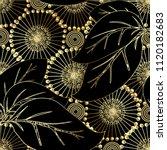 modern otnate floral vector 3d... | Shutterstock .eps vector #1120182683