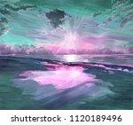 hand drawn watercolor... | Shutterstock . vector #1120189496