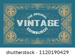 old label design. western style | Shutterstock .eps vector #1120190429