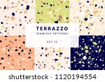 terrazzo seamless patterns in... | Shutterstock .eps vector #1120194554