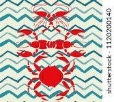 mirror style lobster shrimp... | Shutterstock .eps vector #1120200140