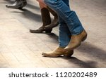 country line dance and western... | Shutterstock . vector #1120202489