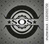 sos dark badge | Shutterstock .eps vector #1120202720