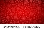 christmas background of big and ... | Shutterstock . vector #1120209329