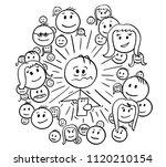 cartoon stick drawing... | Shutterstock .eps vector #1120210154