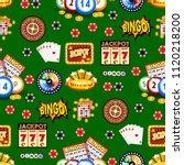 casino gambling win luck... | Shutterstock .eps vector #1120218200