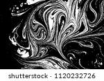 black and white liquid texture. ... | Shutterstock .eps vector #1120232726
