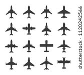 air plane icons collection set... | Shutterstock .eps vector #1120242566