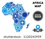 industrial africa map collage... | Shutterstock .eps vector #1120242959