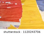 yellow orange urban ripped torn ... | Shutterstock . vector #1120243706