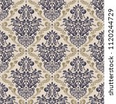 vector damask seamless pattern... | Shutterstock .eps vector #1120244729