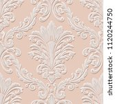 vector volumetric damask... | Shutterstock .eps vector #1120244750