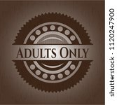 adults only wooden emblem | Shutterstock .eps vector #1120247900