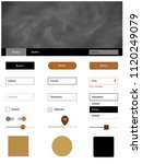 dark brown vector wireframe kit ...