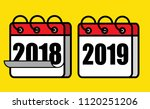 happy new year 2019 and say... | Shutterstock .eps vector #1120251206