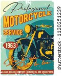 vintage motorcycle t shirt or... | Shutterstock .eps vector #1120251239
