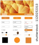 dark orange vector ui kit in...
