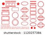 vector template alphabet ... | Shutterstock .eps vector #1120257386
