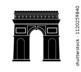 triumphal arch in paris  france ... | Shutterstock .eps vector #1120259840