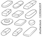 vector set of eraser | Shutterstock .eps vector #1120261019