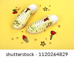 woman shoes with accessories | Shutterstock . vector #1120264829