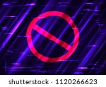 glitch forbid red symbol shape... | Shutterstock . vector #1120266623