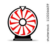 isolated fortune wheel icon... | Shutterstock . vector #1120266659