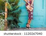 close up details of footwear... | Shutterstock . vector #1120267040