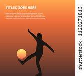 man kicking the sun... | Shutterstock .eps vector #1120271813
