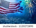celebrating independence day.... | Shutterstock . vector #1120272890