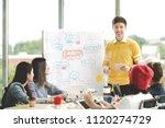 young asian creative... | Shutterstock . vector #1120274729