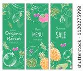 farm vegetables vector poster.... | Shutterstock .eps vector #1120275998